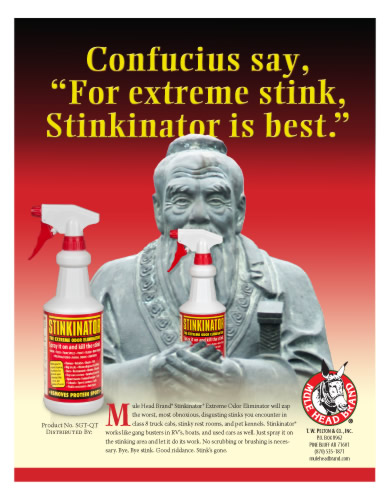 Stinkinator extreme odor eliminator brochure